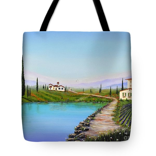 Tote Bag featuring the painting My Garden by Mary Scott