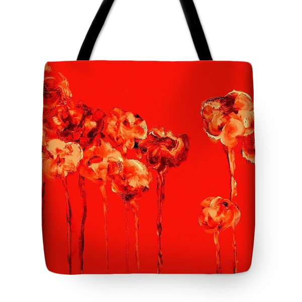 My Garden - Red Tote Bag