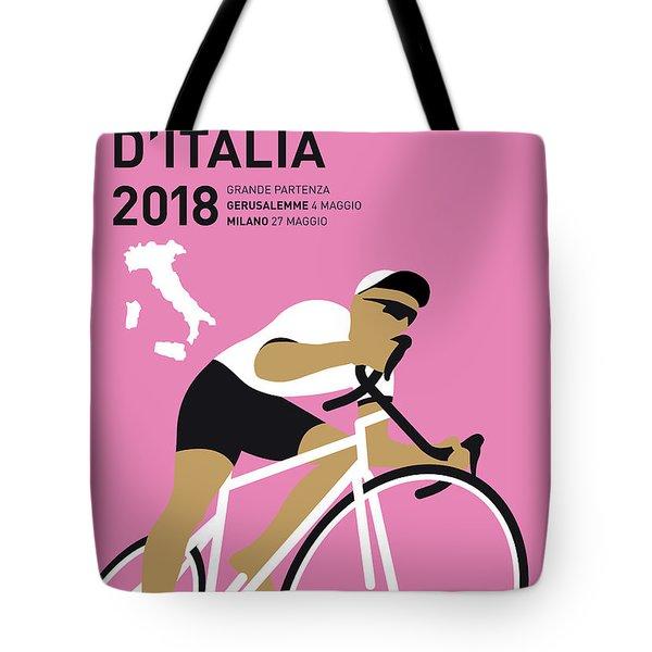 My Giro Ditalia Minimal Poster 2018 Tote Bag