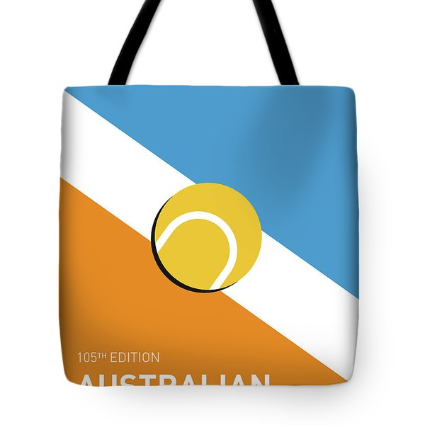 Tote Bag featuring the digital art My Grand Slam 01 Australian Open 2017 Minimal Poster by Chungkong Art