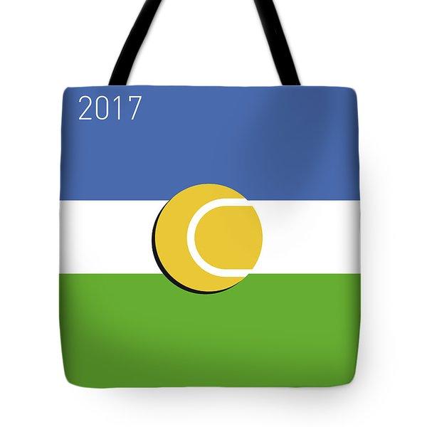 My Grand Slam 04 Us Open 2017 Minimal Poster Tote Bag