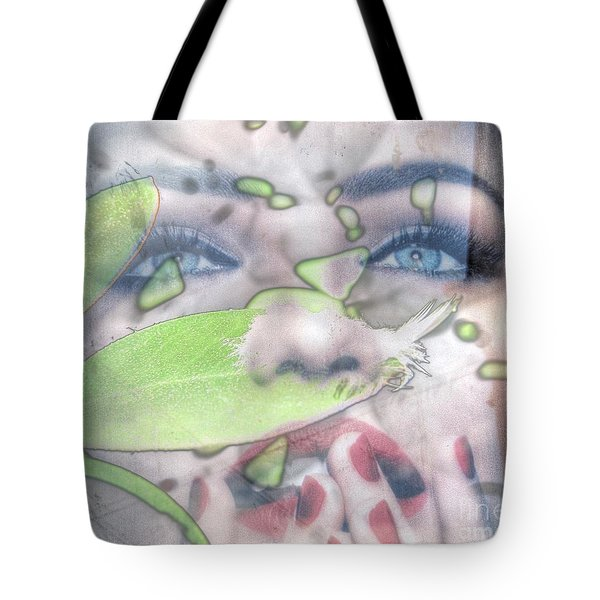 My Green Lady Tote Bag by Yury Bashkin
