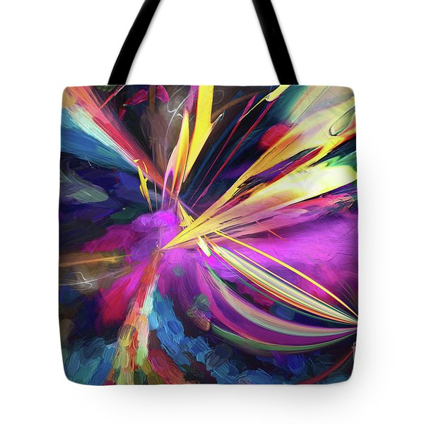 Tote Bag featuring the digital art My Happy Place by Margie Chapman
