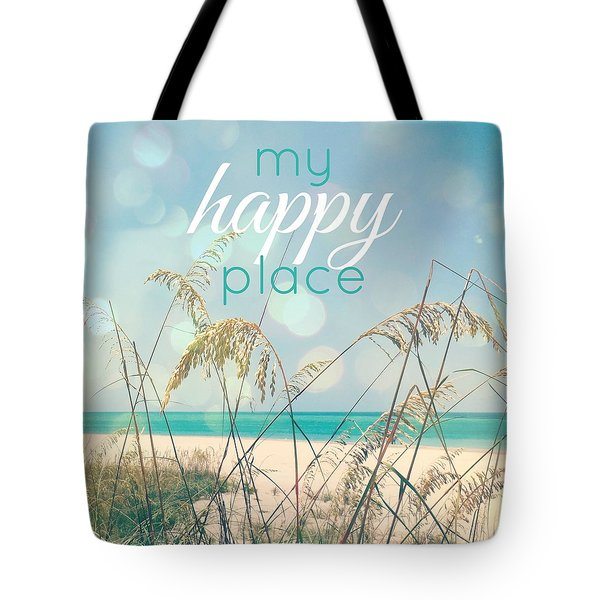 My Happy Place Tote Bag by Valerie Reeves