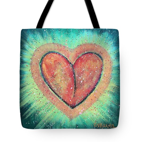 Tote Bag featuring the painting My Heart Loves You by Laurie Maves ART