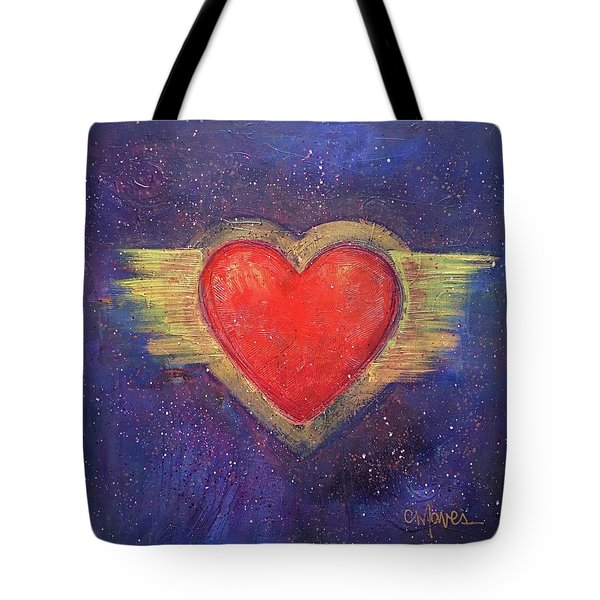My Heart My Strength Tote Bag by Laurie Maves ART