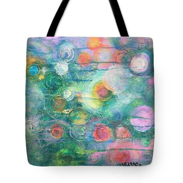 Tote Bag featuring the painting My Heart Will Find You by Laurie Maves ART