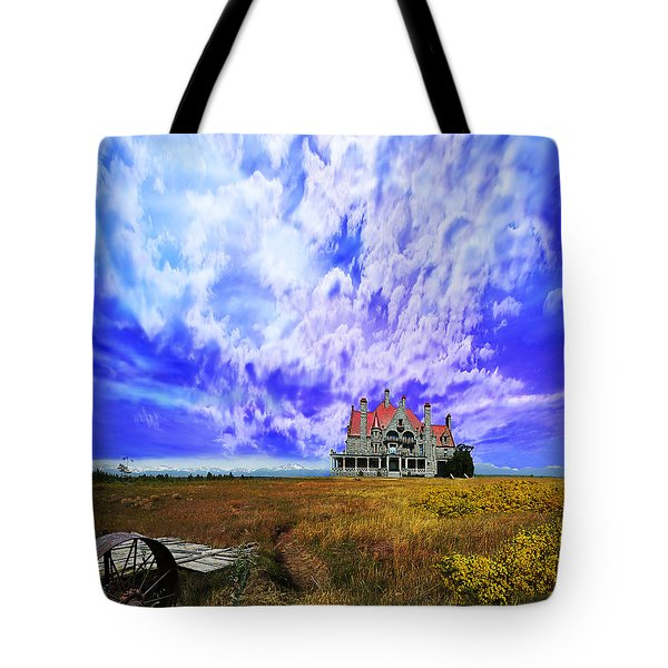My House On A Hill Tote Bag