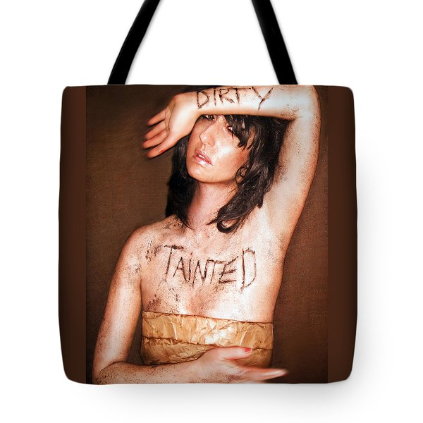 My Invisible Tattoos - Self Portrait Tote Bag by Jaeda DeWalt