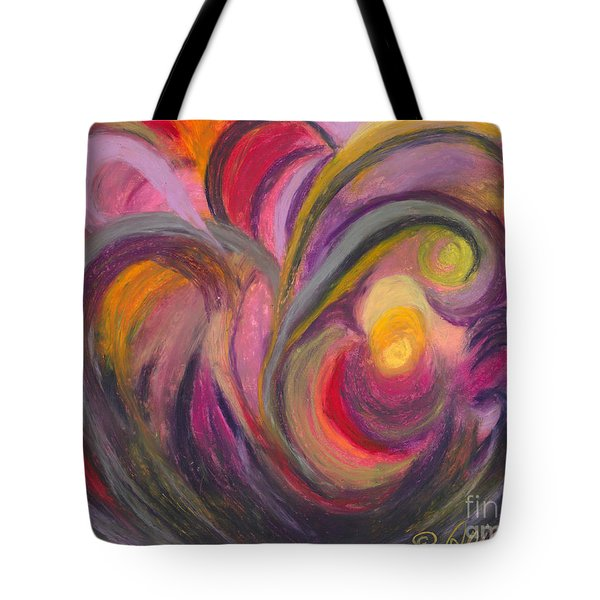 Tote Bag featuring the painting My Joy by Ania M Milo