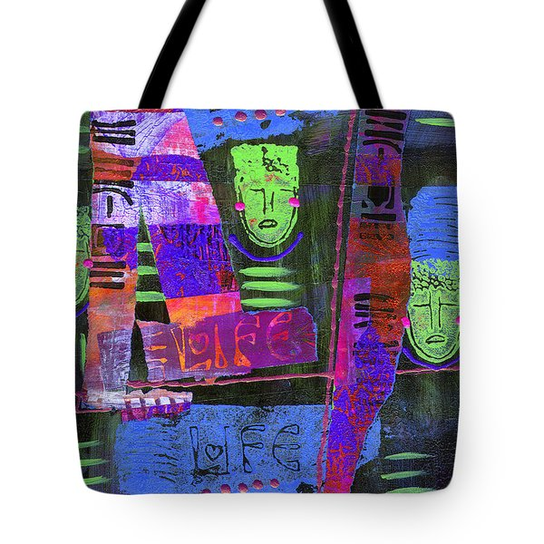 Tote Bag featuring the painting My Life Is Blue by Angela L Walker