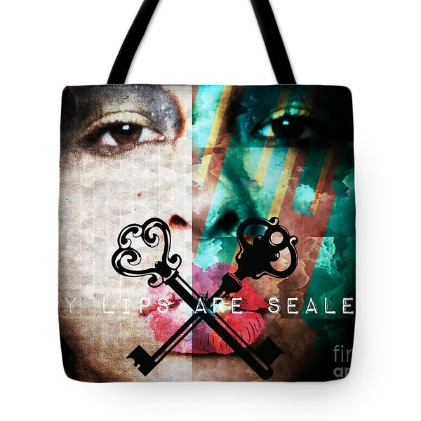 My Lips Are Sealed Tote Bag by Jessica Shelton