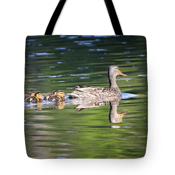 Tote Bag featuring the photograph My Little Family by Gary Hall