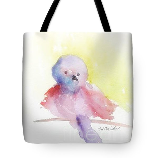 Tote Bag featuring the painting My Little One by Trilby Cole