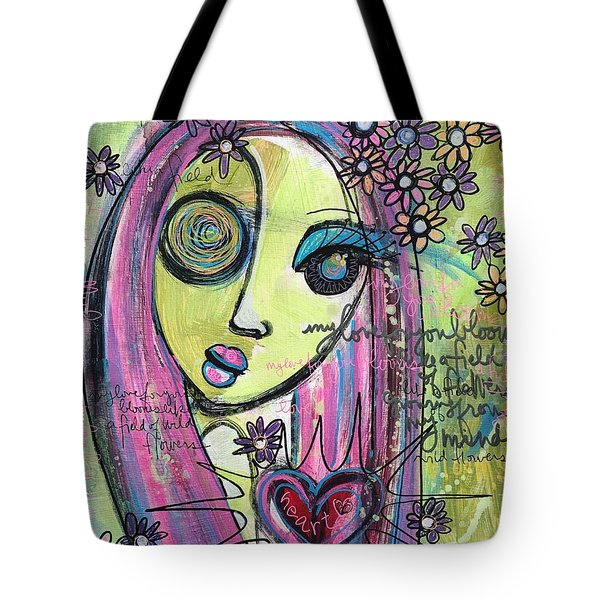 My Love For You Blooms Tote Bag by Laurie Maves ART
