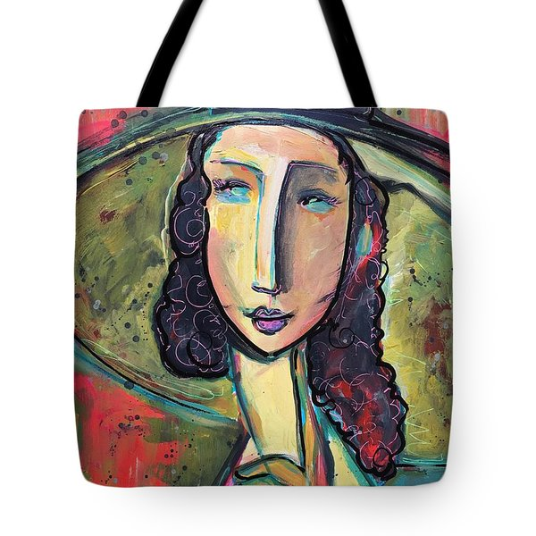 Tote Bag featuring the painting My Love Lies In Livorno by Laurie Maves ART