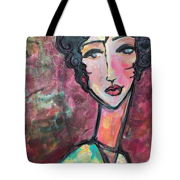 Tote Bag featuring the painting My Love Lies In Venezia by Laurie Maves ART