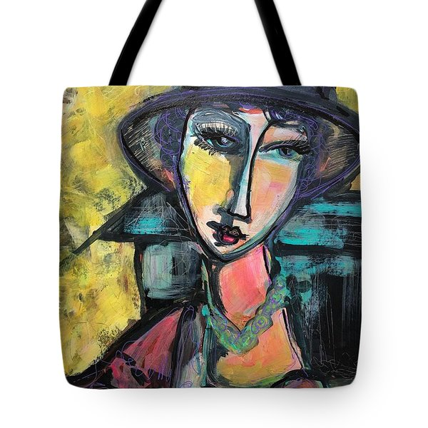 Tote Bag featuring the painting My Love Lies With Florence by Laurie Maves ART