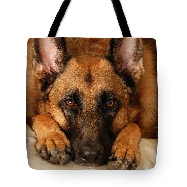 My Loyal Friend Tote Bag by Angie Tirado