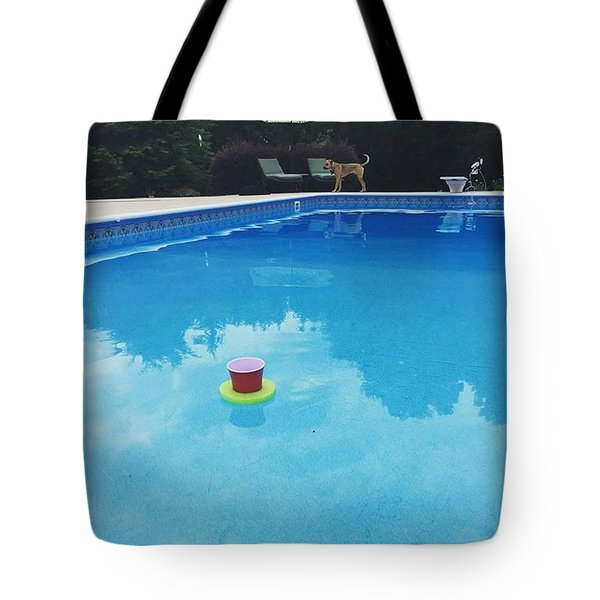 My Morning Wine Is Floating Away Tote Bag