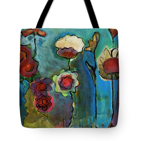 Tote Bag featuring the painting My Mother's Garden by Susan Stone
