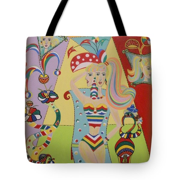 Tote Bag featuring the painting My Name Is Jesica by Marie Schwarzer