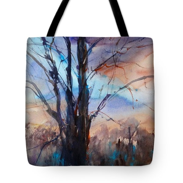 Tote Bag featuring the painting My Oak Tree by Sandra Strohschein