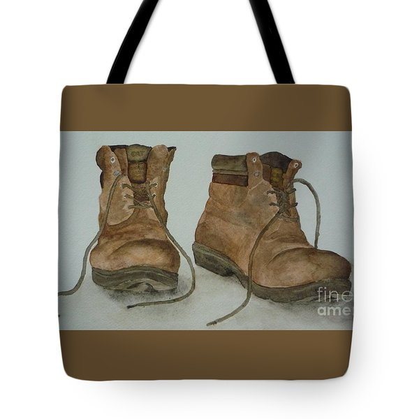 My Old Hiking Boots Tote Bag