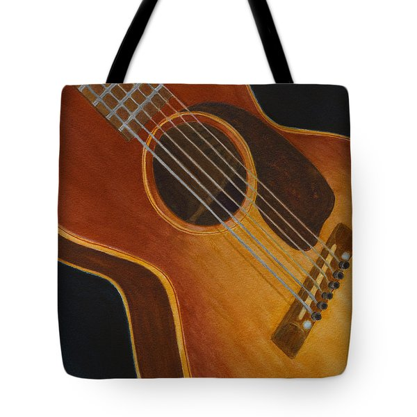 My Old Sunburst Guitar Tote Bag