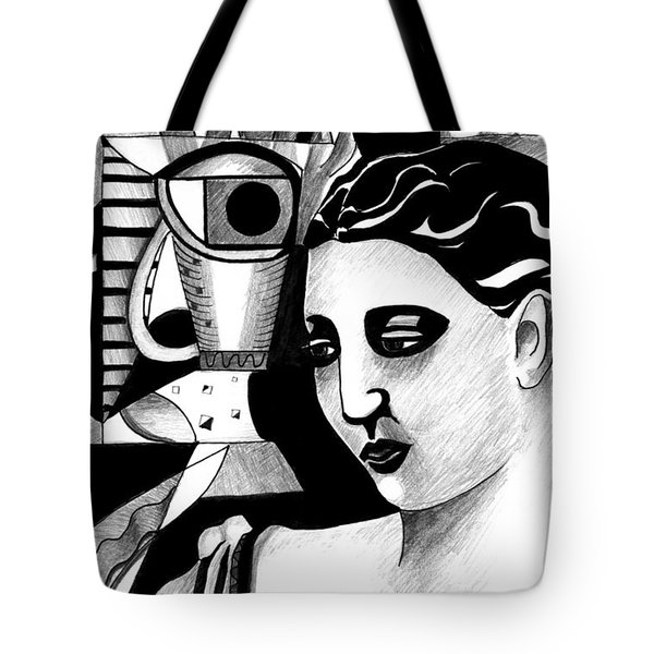 My Outing With A Young Woman By Picasso Tote Bag