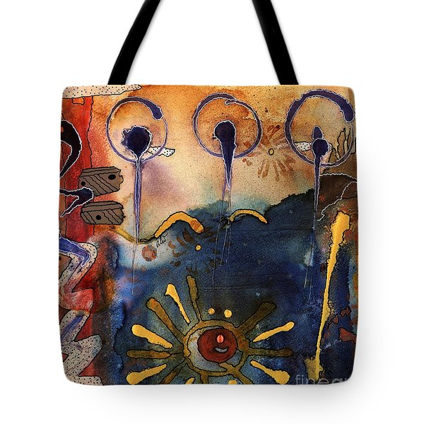 My Own Painted Desert - Completed Tote Bag by Angela L Walker