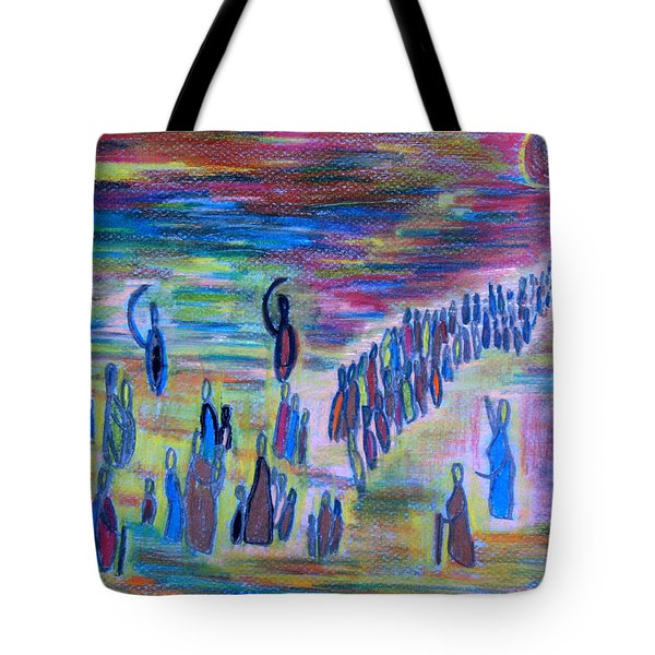 Tote Bag featuring the drawing My People by Vadim Levin