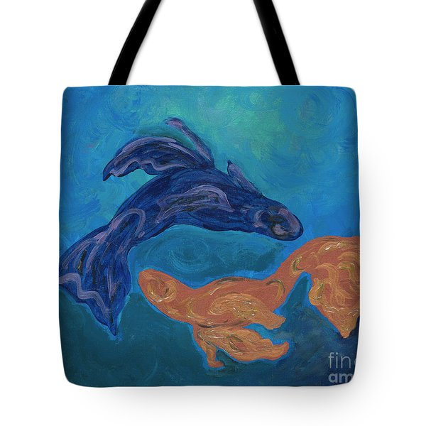 Tote Bag featuring the painting My Pisces  by Ania M Milo