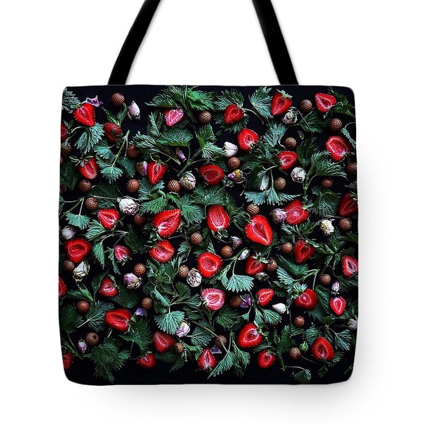 My Real Strawberry Patch Tote Bag