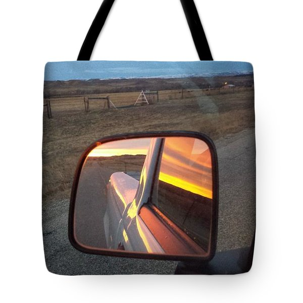 My Rear View Mirror Tote Bag