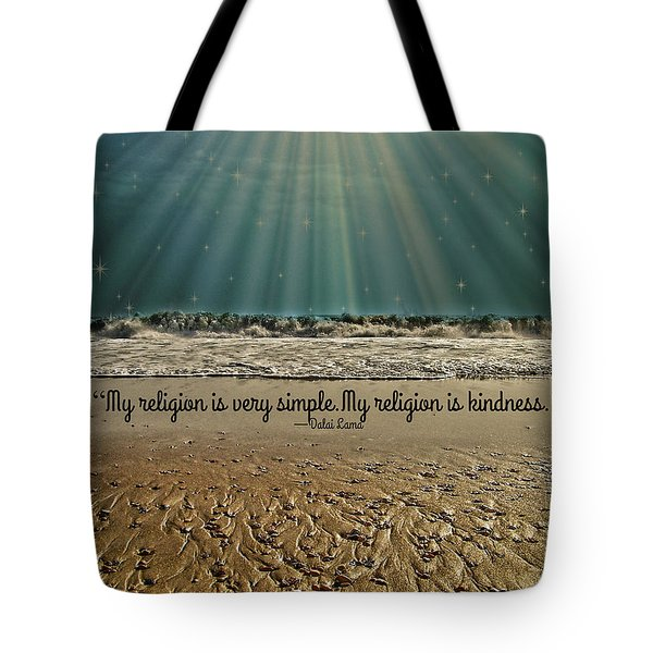 Tote Bag featuring the mixed media My Religion by Trish Tritz