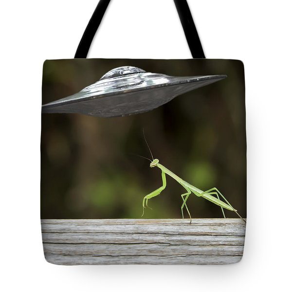 My Ride Is Here Tote Bag
