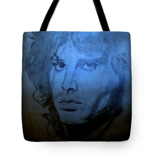 Tote Bag featuring the drawing My Rock N' Roll Days by Bill OConnor