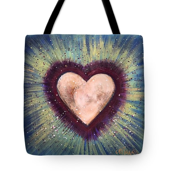 My Royal Heart Tote Bag by Laurie Maves ART