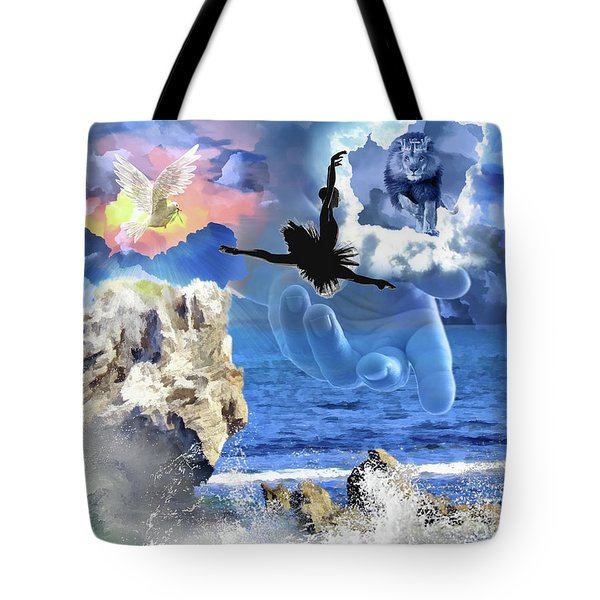 Tote Bag featuring the digital art My Savior by Dolores Develde