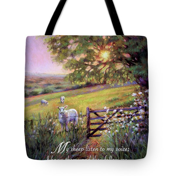 My Sheep Hear My Voice Tote Bag