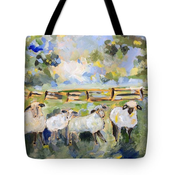 My Sheep Will Follow Me Tote Bag