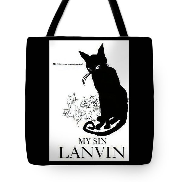 Tote Bag featuring the digital art My Sin by ReInVintaged