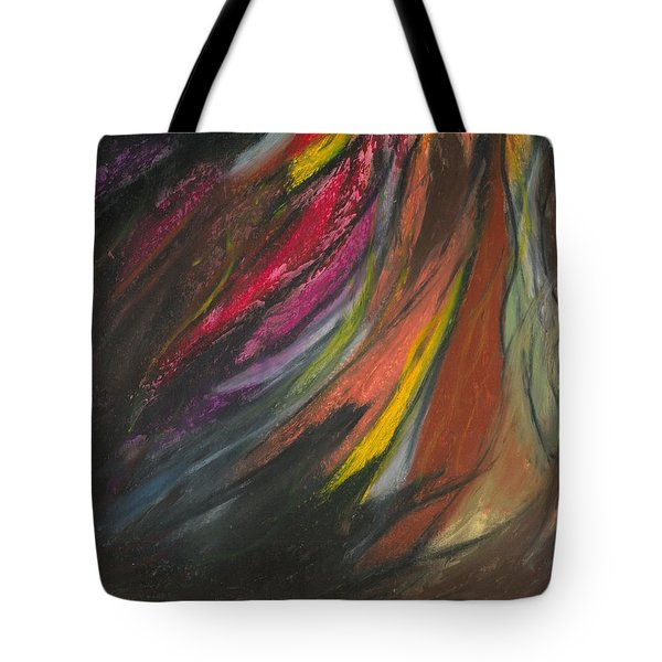 Tote Bag featuring the painting My Soul On Fire by Ania M Milo
