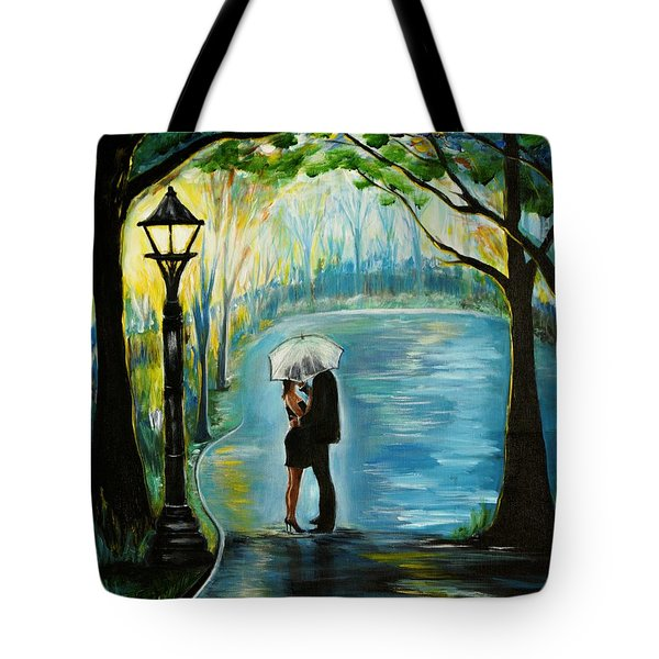 Tote Bag featuring the painting My Soulmate by Leslie Allen