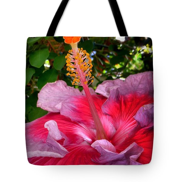 My Special Hibiscus Tote Bag by Lori Seaman