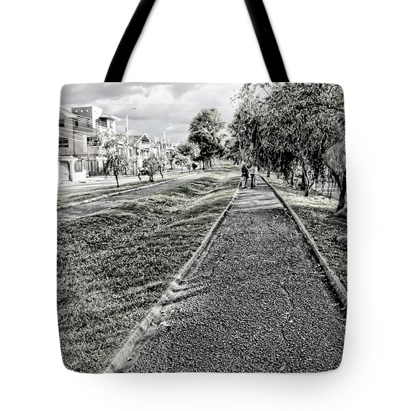 Tote Bag featuring the photograph My Street II by Al Bourassa