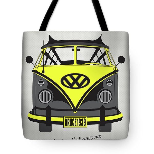 My Superhero-vw-t1-batman Tote Bag