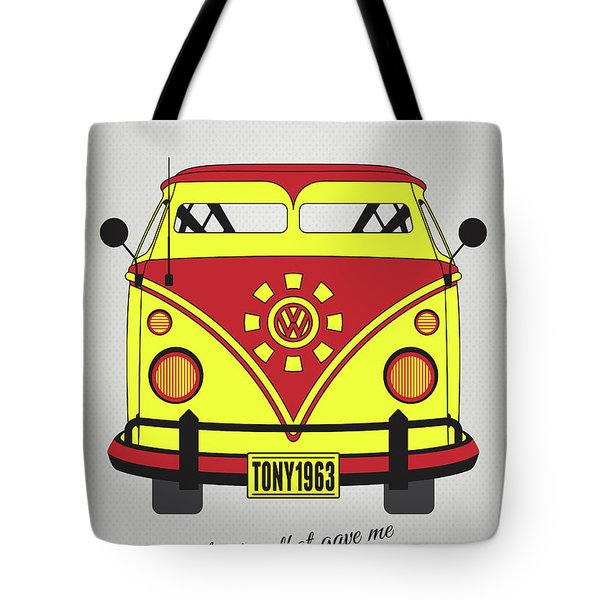 My Superhero-vw-t1-iron Man Tote Bag