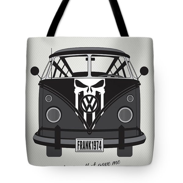 My Superhero-vw-t1-punisher Tote Bag